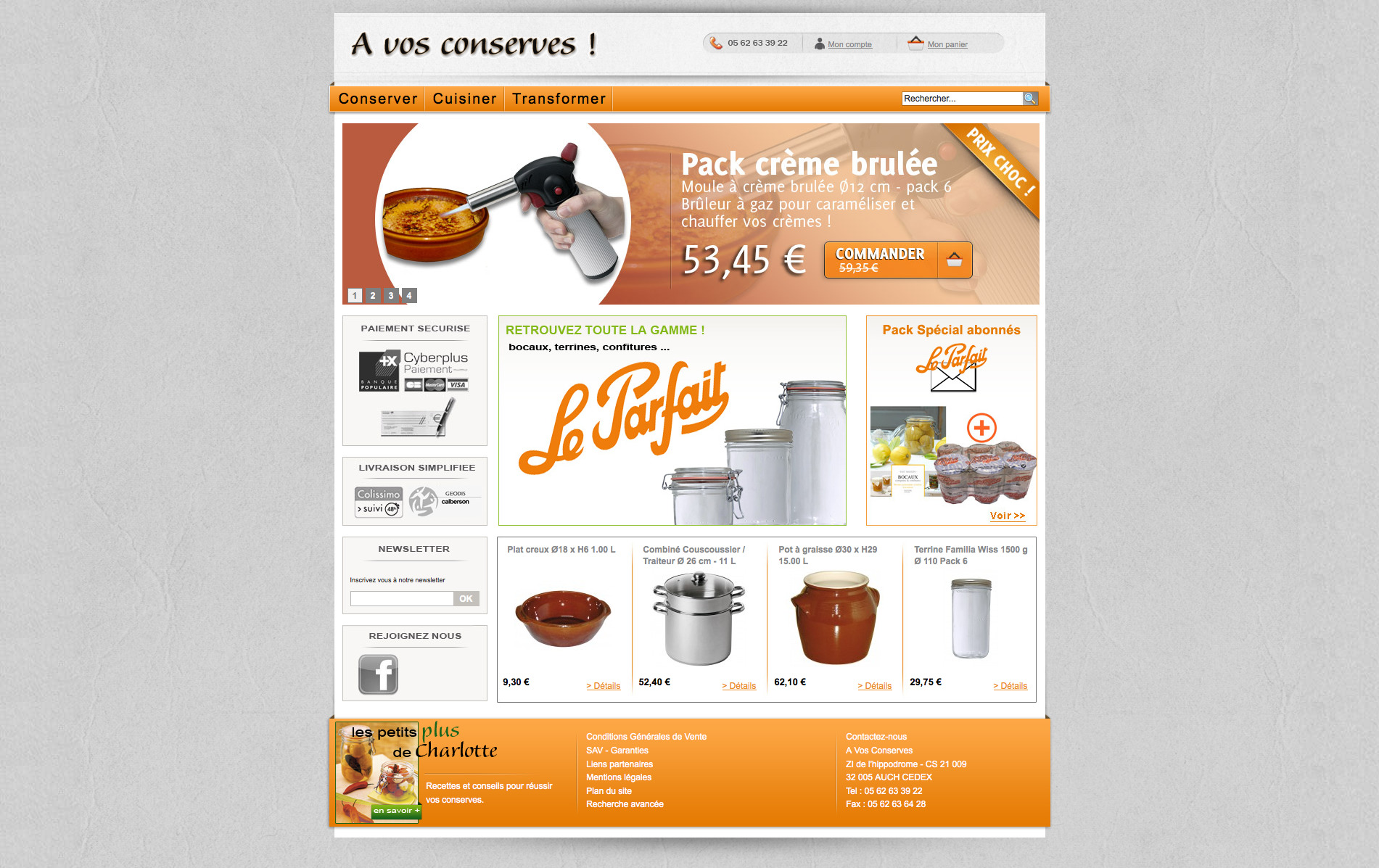 site magento commerce avosconserves