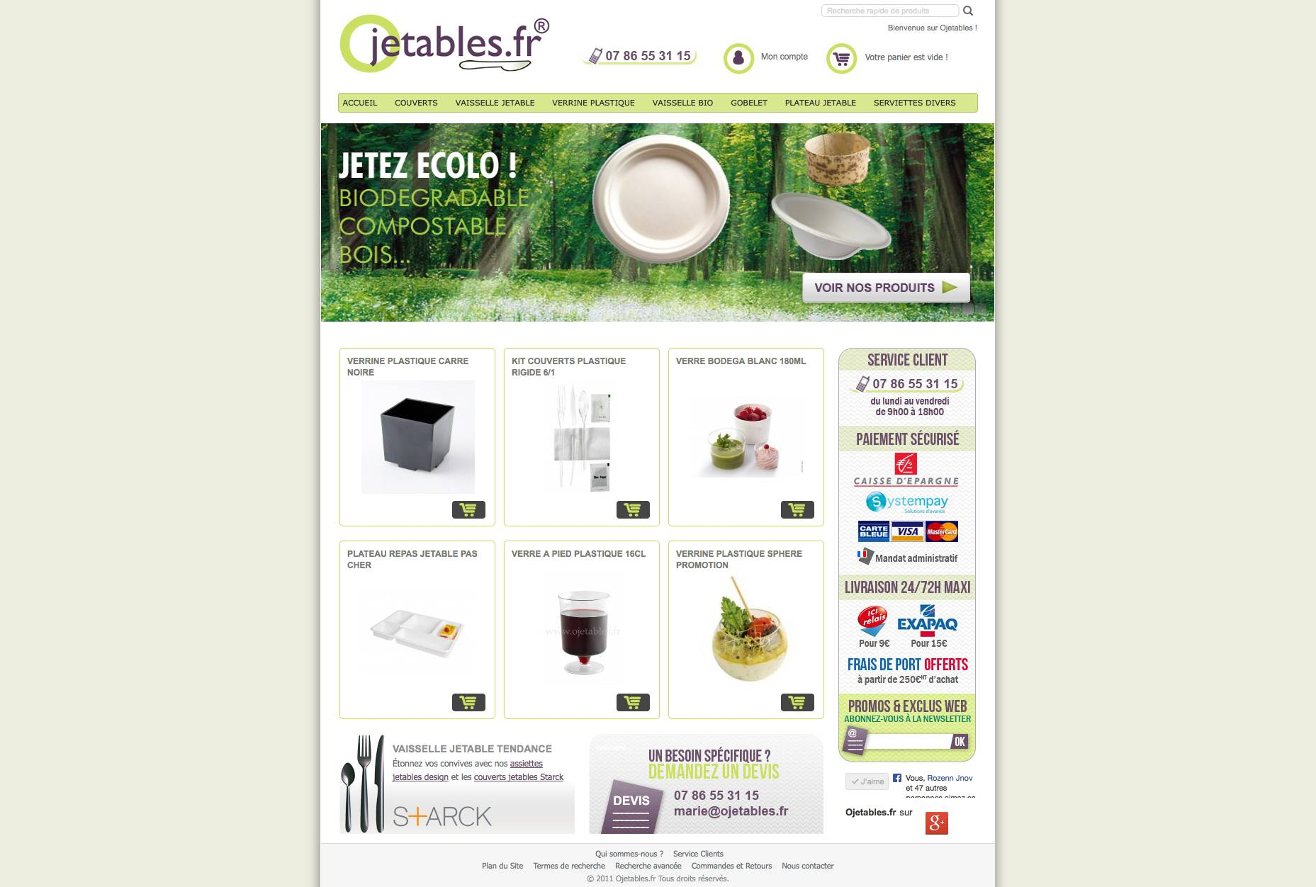 site magento commerce couverts jetables