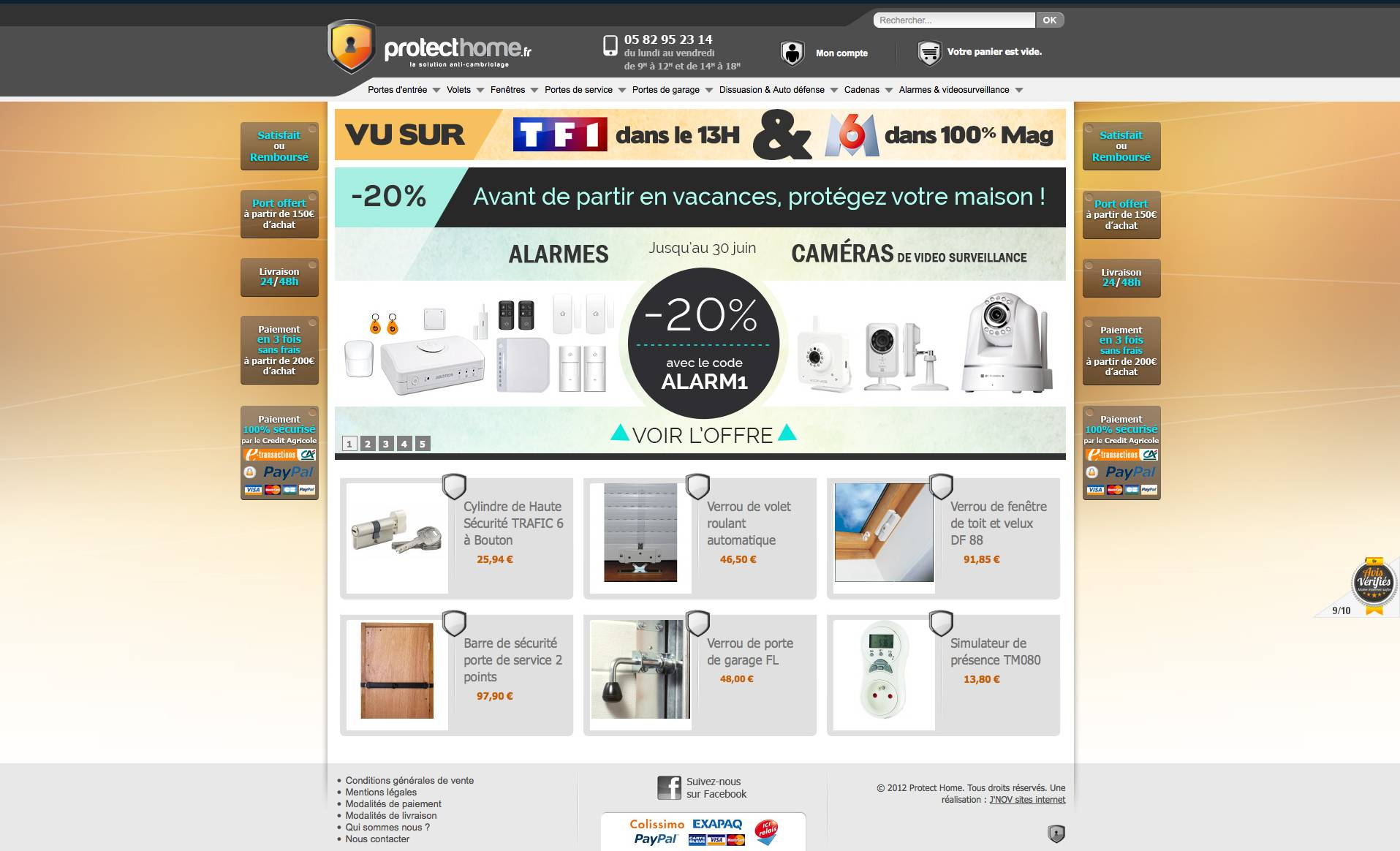 Site Magento Commerce pour Protect Home